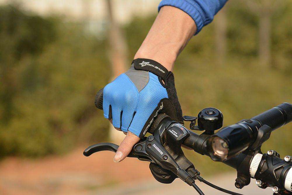 Luvas Ciclismo Meio Dedo Rockbros Gel Bike Original Azul