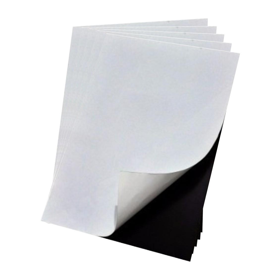 Manta Magnética Adesivada para Brindes E Calendário - Ima Adesivo - 5 pçs