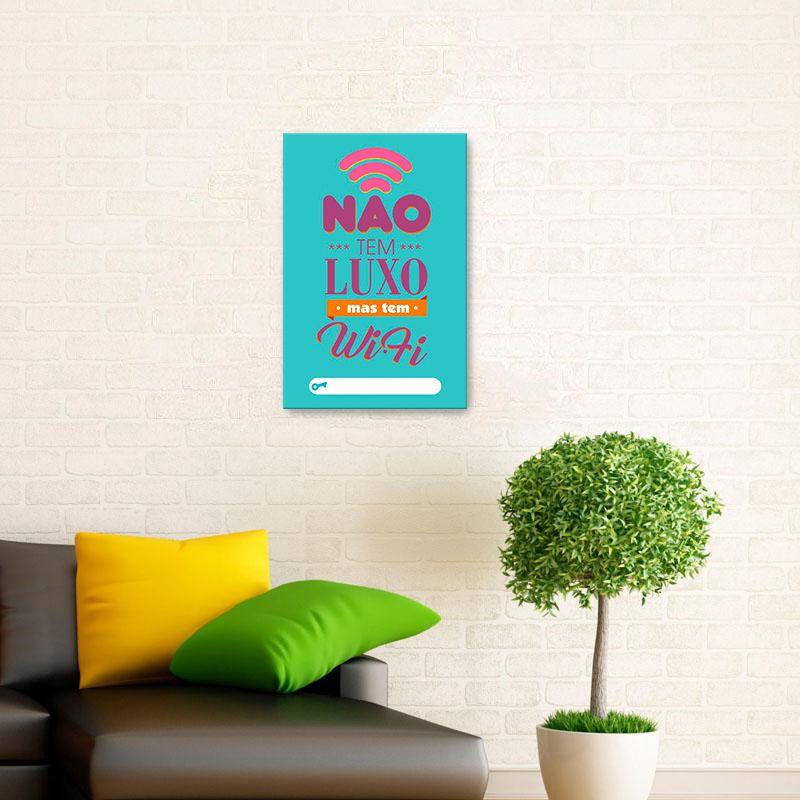 Placa Decorativa em PVC para Parede  WIFI - Ref 01