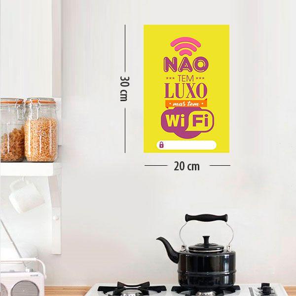 Placa Decorativa em PVC para Parede  WIFI - Ref 02
