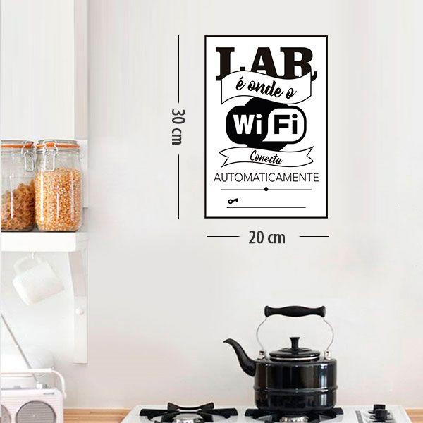 Placa Decorativa em PVC para Parede  WIFI - Ref 03