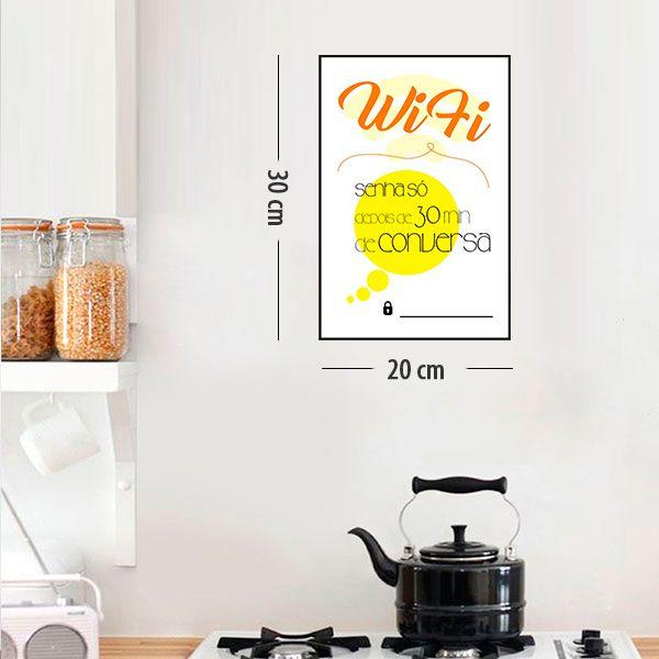 Placa Decorativa em PVC para Parede  WIFI - Ref 04