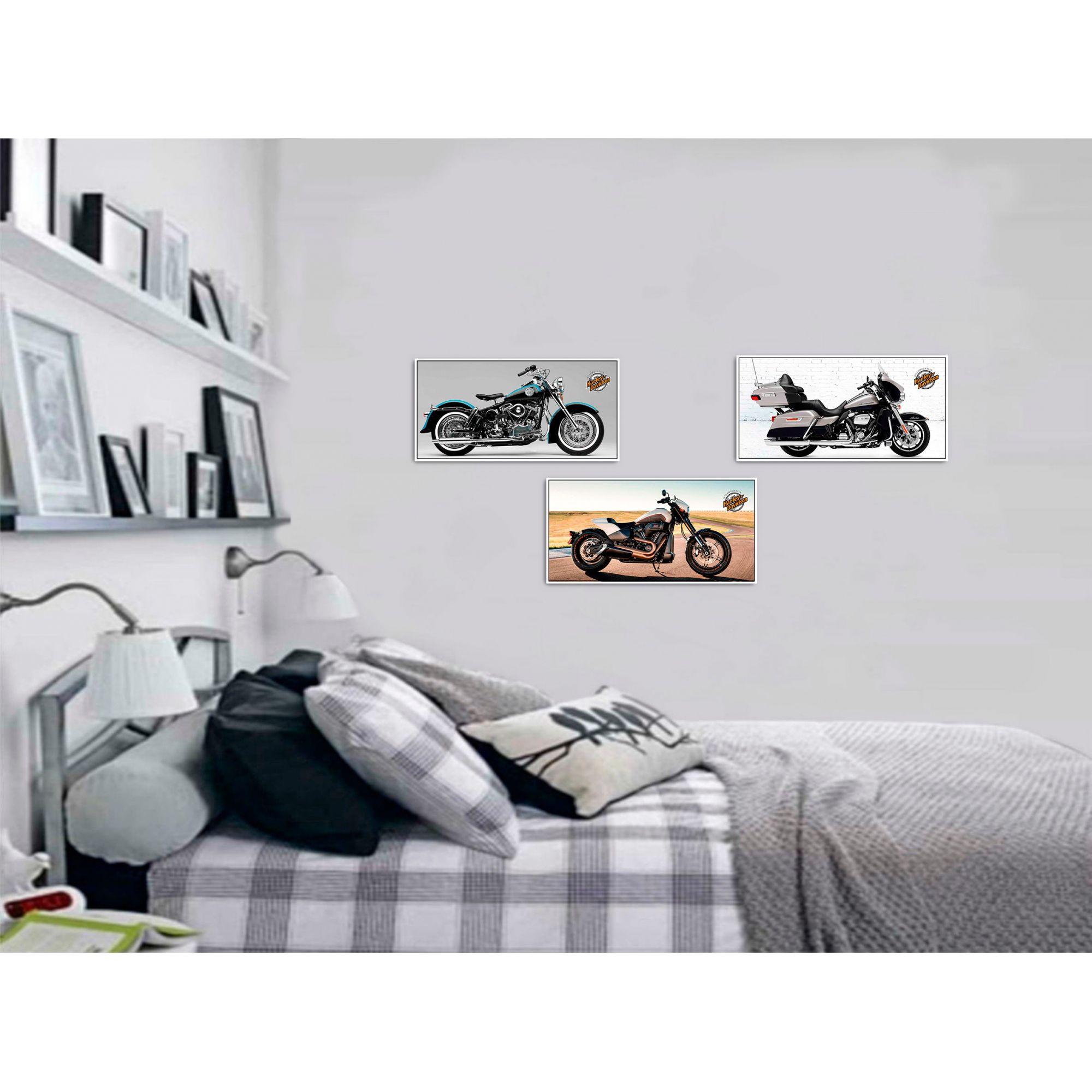 Placas Decorativas Harley Davidson 50 x 25 cm