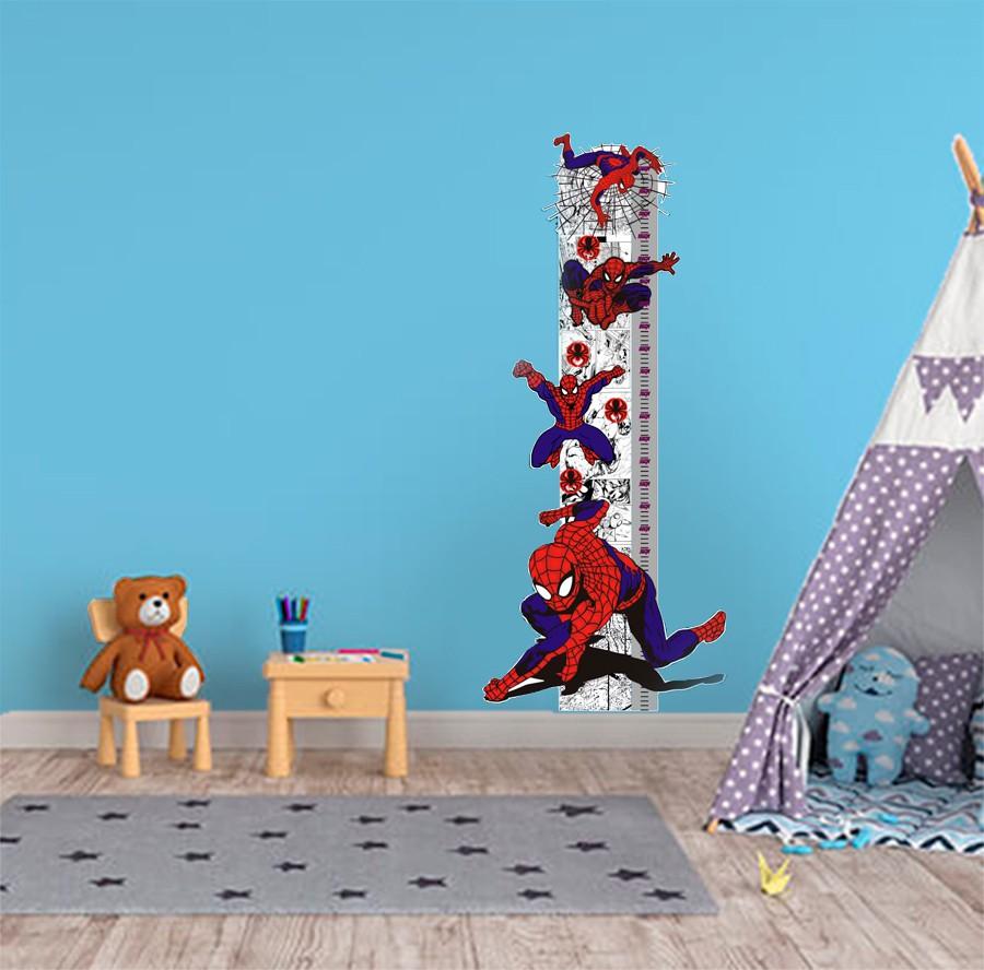 Adesivo decorativo infantil Régua Crescimento - Homem Aranha