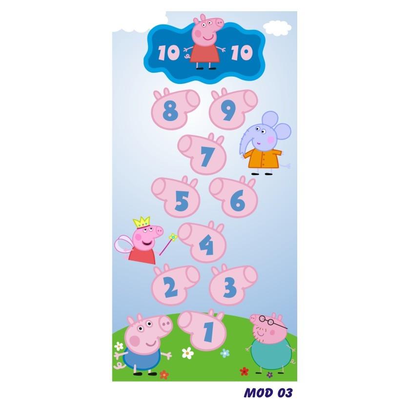 Tapete em Lona Amarelinha para Crianças 68 x 135 cm