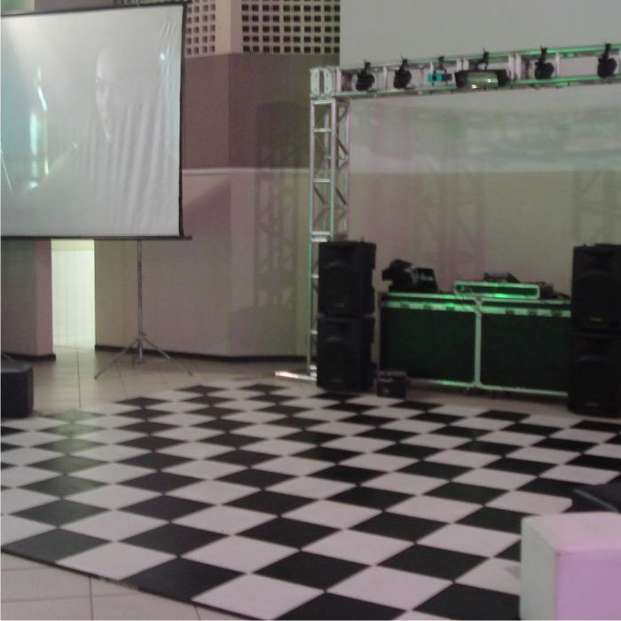 Tapete Emborrachado Pista Dança Xadrez 3 x 2 m