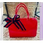 Bolsa Mãe e Filha: Vermelha Envernizada com Laço | LANÇAMENTO ♡ ♡