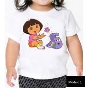 Camisa Personalizada Dora Aventureira ♡ ♡