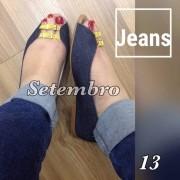 Rasteirinha Jeans com Fivela Amarela | PRONTA ENTREGA ♡ ♡