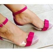 Salomé Rosa Transparente com Laço | PRONTA ENTREGA ♡ ♡