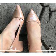 Sandália Clássico Nude Envernizado| FRETE GRÁTIS ♡ ♡