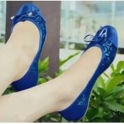 Sapatilha com Telinha Azul Desenhada e laço | PRONTA ENTREGA ♡ ♡