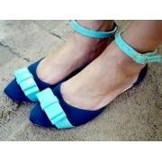 Salomé Azul com Laço Claro | PRONTA ENTREGA ♡ ♡