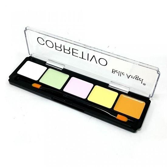Paleta Corretivo Facial com 5 Cores - Belle Angel | PRONTA ENTREGA ♡ ♡