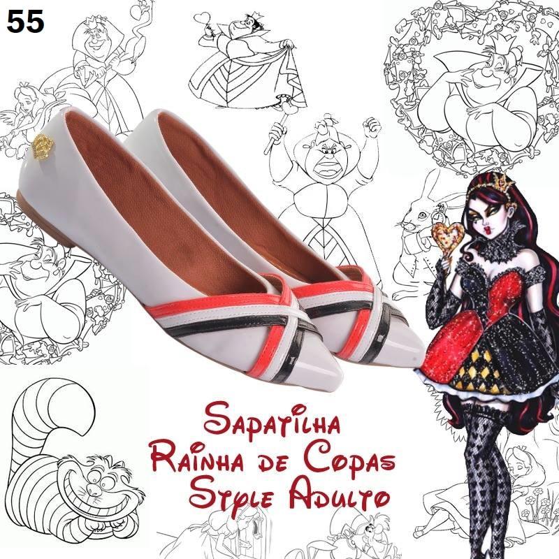 Sapatilha Rainha de Copas Style  ♡ ♡