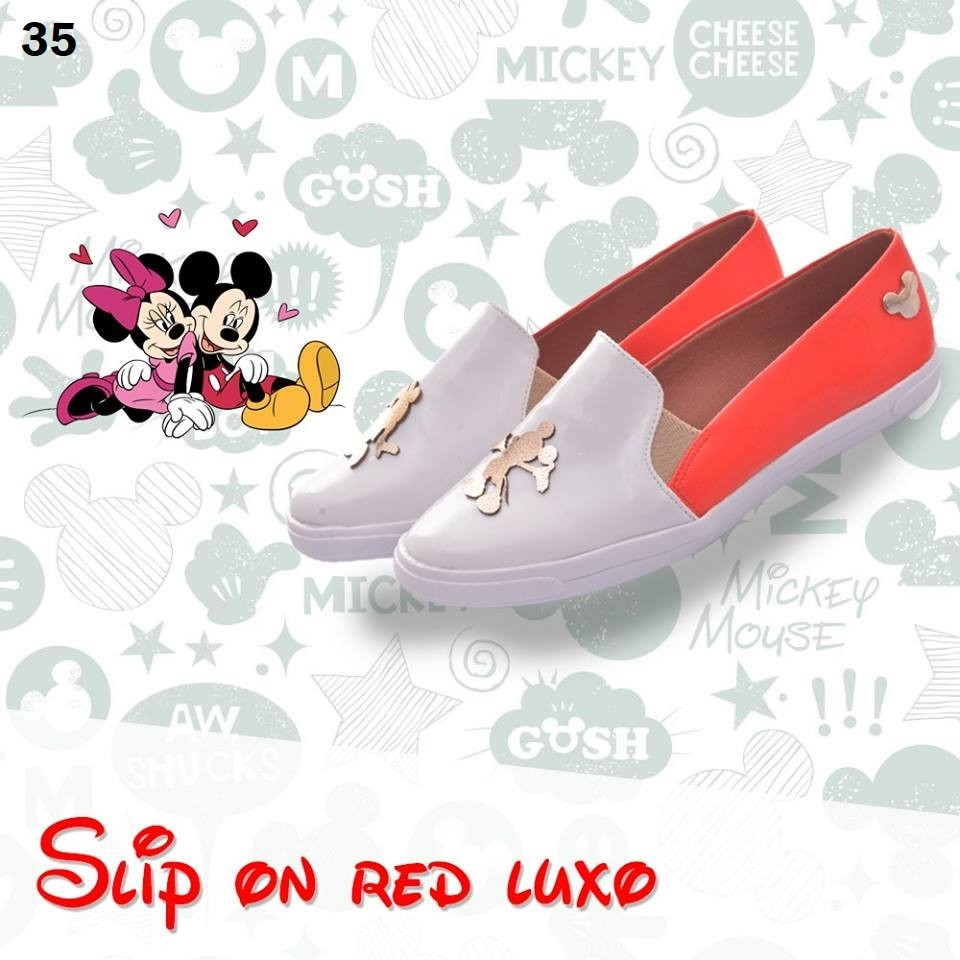 Slipper On Red Luxo | Minie, Mickey Mouse ♡ ♡