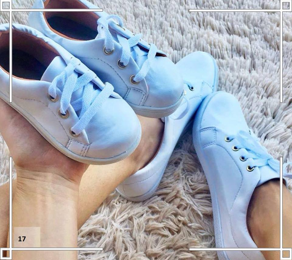 Tênis Mãe e Filha: Branco Clássico  ♡ ♡