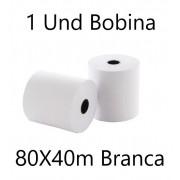 BOBINA TERMICA 80X40M UND BRANCA RIO BRANCO