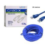 CABO DE REDE CAT5E AZUL 20 METROS CLIPADO EXBOM