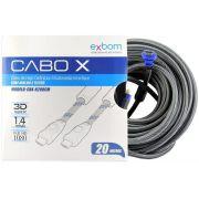CABO HDMI-HDMI 20 METROS 1.4/3D C/FILTRO EXBOM
