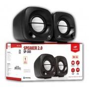 CAIXA DE SOM SP-303BK P2/USB 2.0 3W PRETA C3 TECH