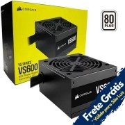 FONTE ATX 600W REAL 80PLUS PFC ATIVO BIVOLT VS600 CORSAIR