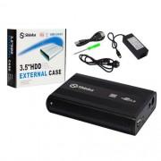"""GAVETA 3,5"""" PARA HD PC USB 2.0 PRETA FY"""