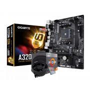 KIT - AMD RYZEM 3 2200G 3.5GHZ + PLACA MÃE AM4 DDR4 GIGABYTE