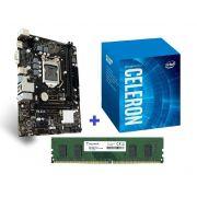 KIT- PLACA 1151 8ªGER BIOSTAR + INTEL CELERON 3,2GHZ 8ª GER + MEMÓRIA 4GB/DDR4