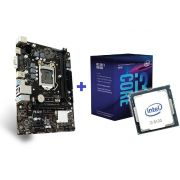KIT- PLACA 1151/DDR4 PCWARE + INTEL CORE I3-8100 3,6GHZ 6MB 8ª GER BOX