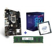 KIT- PLACA 1151/DDR4 PCWARE + INTEL CORE I3-8100 3,6GHZ + MEMÓRIA 4GB/DDR4