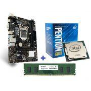 KIT - PLACA MÃE 1151 BIOSTAR + INTEL PENTIUM 3.7GHZ 8ª GER + MEM 4GB/DDR4