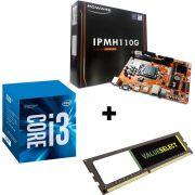 KIT - PLACA MÃE 1151 PCWARE + INTEL CORE I3 3.9GHZ + MEM 4GB/DDR4