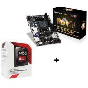 KIT - PROCESSADOR AMD DUAL CORE 3.5GHZ BOX + PLACA MÃE FM2 A68M BIOSTAR