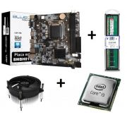 KIT - PM 1150 BLUECASE + INTEL CORE I3 3.6GHZ + COOLER + MEMORIA 4GB DDR3