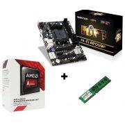 KIT - AMD DUAL CORE 3.5GHZ + PLACA MAE FM2 BIOSTAR + MEMORIA 4GB/DDR3
