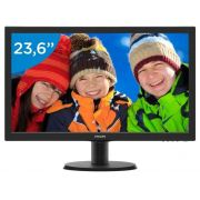 "MONITOR 23,6"" 243V5Q FULL HD VGA/DVI/HDMI PHILIPS"
