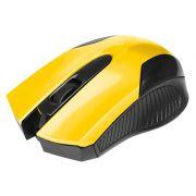 MOUSE USB 0378 PRETO/AMARELO BRIGHT