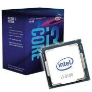 PROCESSADOR INTEL CORE I3-8100 3.6GHZ 6MB 1151 BOX