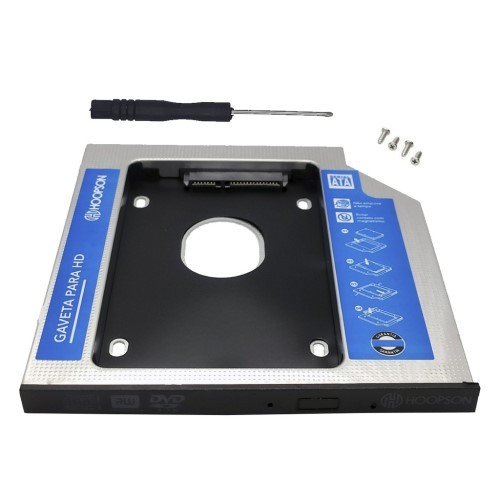 ADAPTADOR CADDY DVD P/HD OU SSD 2.5