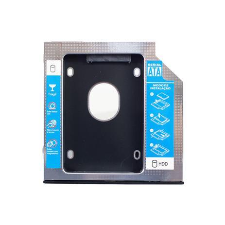 """ADAPTADOR CADDY DVD P/HD OU SSD 2.5"""" 9,5MM SATA HOOPSON  - Express Informática"""