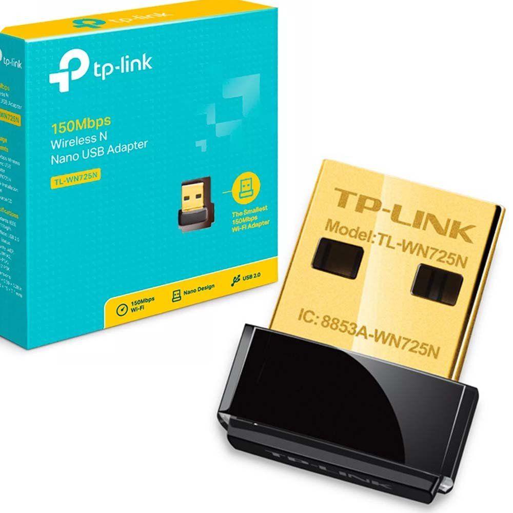 ADAPTADOR USB WI-FI 150MBPS TL-WN725N TP-LINK  - Express Informática