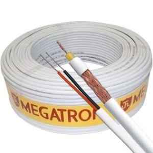 CABO COAXIAL RF0,4/2,5 100M BRANCO MEGATRON