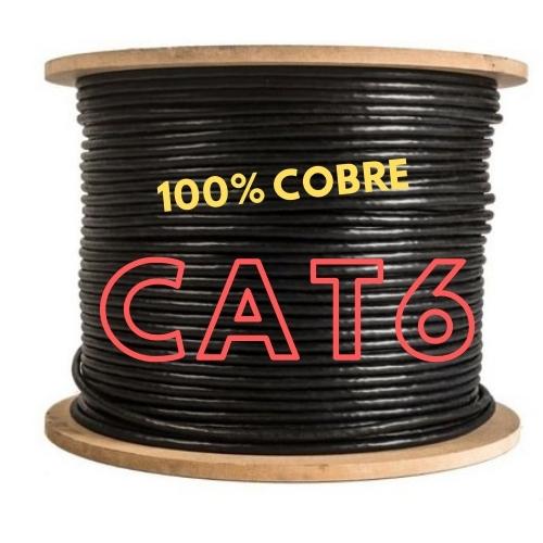 CABO DE REDE LAN 4 PARES CAT6 305M PRETO 100% COBRE COPPERLAN