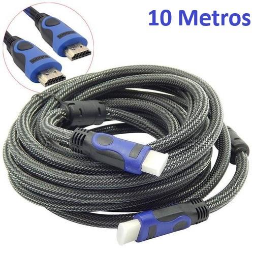 CABO HDMI-HDMI 10 METROS 1.4/3D MALHA/FILTRO EXBOM