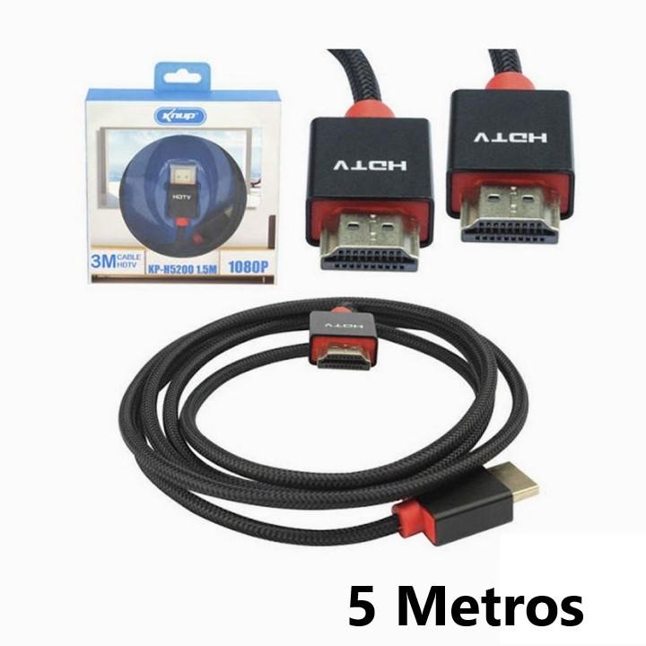 CABO HDMI-HDMI 5 METROS 1.4/3D S/FILTRO KNUP