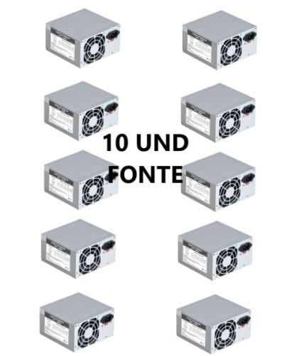 CAIXA C/10UND - FONTE ATX 200W REAL 24P S/CABO PS-200 EVUS