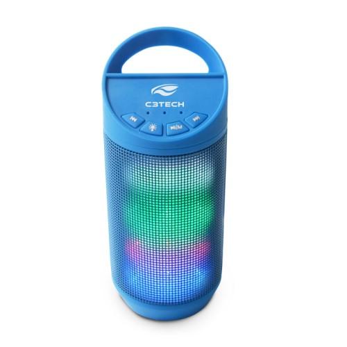 CAIXA DE SOM BLUETOOTH BEAT LED USB/MICRO SD/FM/AUX SP-B50BL AZUL C3 TECH