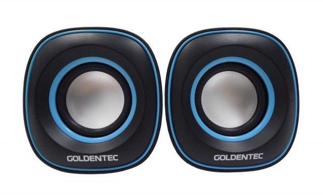 CAIXA DE SOM GT SOUND 2.0 3W * 2 RMS GOLDENTEC  - Express Informática
