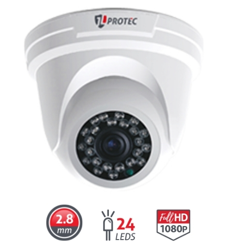 CAMERA DOME INTERNA 1080P INFRAVERMELHO 20 METROS  JL-2020A JL PROTEC
